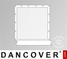 Seitenwand mit Panoramafenster für Partyzelt Original, Weiß