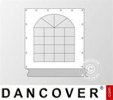 Seitenwand mit Fenster für Partyzelt Original, Weiß / Grau