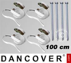 Sicherheitspaket 4 (Sturmverankerungen 100cm & Spanngurte, Weiß)