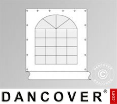 Seitenwand mit Fenster 2,3x2,3m für Partyzelt Semi Pro 7x7m, Weiß