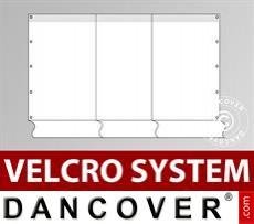 Giebelwand Semi Pro Combi 8m mit schmaler Tür, Weiß