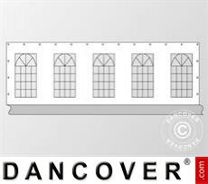 Seitenwand mit Fenster für Partyzelt PLUS 10m, Weiß / Grau