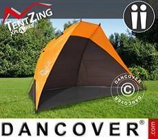 Strandzelt, TentZing®, 2 Personen, Orange/Dunkelgrau