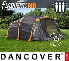 Campingzelt FlashTents® Air, 3 Personen, orange/dunkelgrau