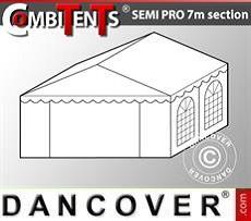 4m-Endabschnitt-Erweiterung für Semi PRO CombiTent, 7x4m, PVC, weiß
