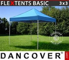 Faltzelt FleXtents Basic v.2, 3x3m Blau