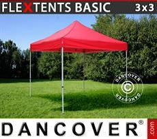 Faltzelt FleXtents Basic v.2, 3x3m Rot