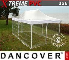 Faltzelt FleXtents Xtreme 3x6m Transparent, mit 6 Wänden