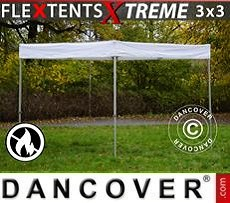 Faltzelt FleXtents® Xtreme Exhibition 3x3m, weiß, flammfest