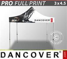 Faltzelt FleXtents PRO mit vollflächigem Digitaldruck, 3x4,5m