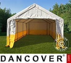 Lager- und Arbeitszelt PRO 4x6m, PVC, weiß/gelb, flammfest