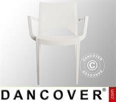 Stuhl mit Armlehnen, Paris, Weiß, 6 Stück