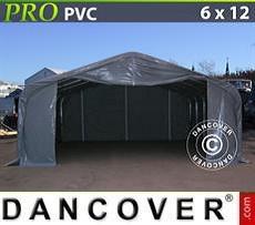 Lagerzelt PRO 6x12x3,7m PVC, Grau