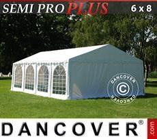 Partyzelt SEMI PRO Plus 6x8m PVC, Weiß