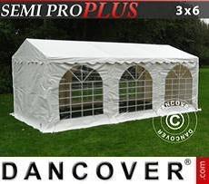 Partyzelt SEMI PRO Plus 3x6m PVC, Weiß