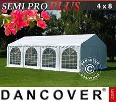 Partyzelt SEMI PRO Plus 4x8m PVC, Weiß