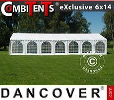 Partyzelt, Exclusive CombiTents® 6x14m 5-in-1, Weiß