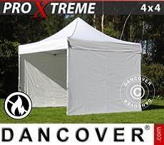 Faltzelt FleXtents Xtreme 4x4m Weiß, mit 4 wänden