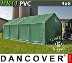 Lagerzelt PRO 4x8x2x3,1m, PVC, Grün