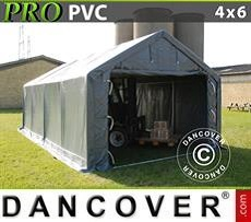 Lagerzelt PRO 4x6x2x3,1m, PVC, Grau