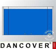 Giebelwand UNICO 3m mit breiter Tür, Blau