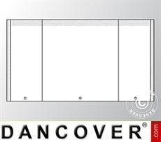 Giebelwand UNICO 3m mit schmaler Tür, Weiß