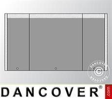 Giebelwand UNICO 3m mit schmaler Tür, Dunkelgrau