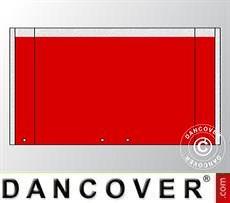 Giebelwand UNICO 5m mit breiter Tür, Rot