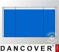 Giebelwand UNICO 5m mit schmaler Tür, Blau