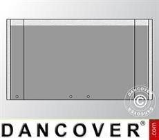 Giebelwand UNICO 4m mit breiter Tür, Dunkelgrau