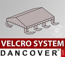 Dachplane für Partyzelt UNICO, PVC/Polyester, 4x6m, sandfarben