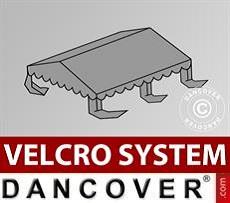 Dachplane für Partyzelt UNICO, PVC/Polyester, 4x4m, dunkelgrau