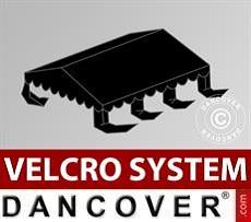 Dachplane für Partyzelt UNICO, PVC/Polyester, 3x6m, schwarz