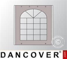 Seitenwand mit Fenster für Partyzelt UNICO, PVC/Polyester, 2m, sandfarben