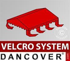 Dachplane für Partyzelt UNICO, PVC/Polyester, 3x6m, rot