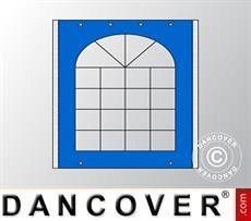 Seitenwand mit Fenster für Partyzelt UNICO, PVC/Polyester, 2m, blau