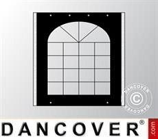 Seitenwand mit Fenster für Partyzelt UNICO, PVC/Polyester, 2m, schwarz