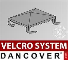 Dachplane für Partyzelt UNICO, PVC/Polyester, 3x3m, dunkelgrau