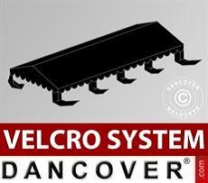 Dachplane für Partyzelt UNICO, PVC/Polyester, 4x8m, schwarz