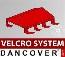 Dachplane für Partyzelt UNICO, PVC/Polyester, 4x6m, rot