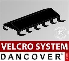 Dachplane für Partyzelt UNICO, PVC/Polyester, 5x10m, schwarz