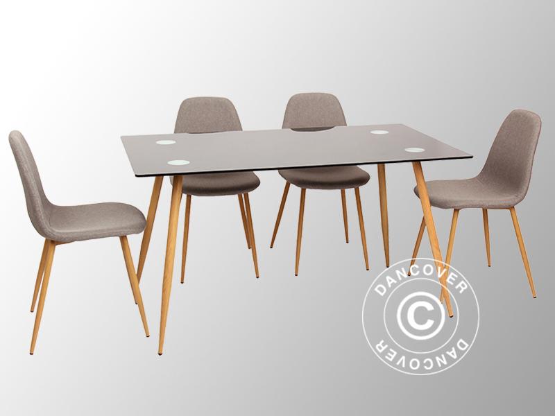 Spisebord og spisebordstole