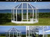 """Invernaderos de tipo """"Orangerie"""" para cultivar y crear ambiente en tu jardín"""