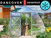 Invernaderos de policarbonato a prueba de nieve para zonas nevadas y frías