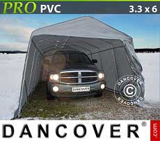 Carpa garaje PRO 3,3x6x2,4m PVC, Gris
