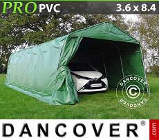 Carpa garaje PRO 3,6x8,4x2,7 PVC, verde