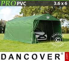 Carpa garaje PRO 3,6x6x2,68m PVC, Verde