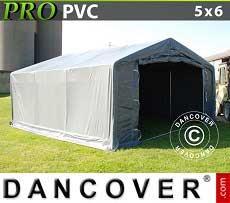 Carpa grande de almacén PRO 5x6x2x2,9m, PVC