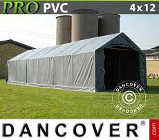 Carpa grande de almacén PRO 4x12x2x3,1m, PVC