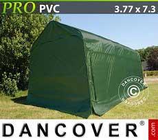 Carpa garaje PRO 3,77x7,3x3,24m PVC, Verde